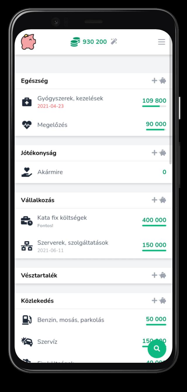 Költségvetés készítő és pénz beosztó alkalmazás: Beosztom.hu